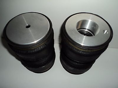 Pair of screw on air suspension bags to lift most coilovers (various sizes)