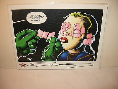 """-SIGNED- Frank Miller """"You'll Be Safe"""" Print from CBLDF Defender liberty comics"""