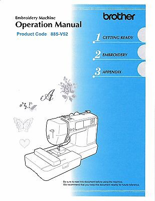 BROTHER PE-540D Embroidery Owners Manual on CD in Color