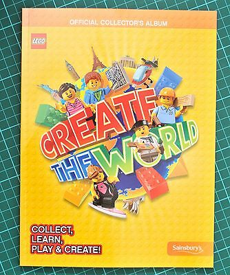 LEGO Create The World OFFICIAL collector's ALBUM BOOK sainsburys CARDS PACKS SET