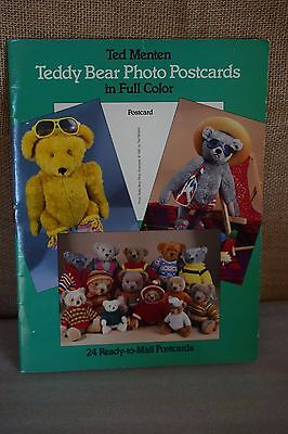 24 Vintage 1985 Full Cover Postcards Ted Menten TEDDY BEAR PHOTO POSTCARDS