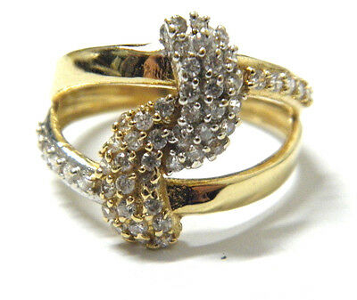 18ct/750 YELLOW SOLID GOLD LADIES PATTERN  RING rrp $575.00