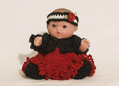 """Red/Black Sundress & Jacket OUTFIT ONLY for the  5"""" Lots to Love Babies"""