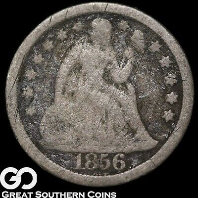 1856 Seated Liberty Dime, Large Date