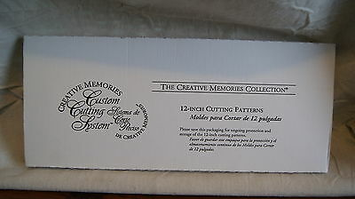 Creative Memories Cutting System Set – 12 Inch Cutting Patterns - New