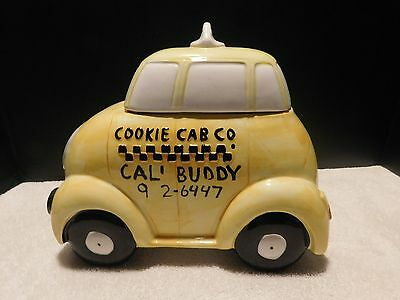 MACY'S YELLOW TAXI CAB COOKIE JAR EX COND Ca1970'S