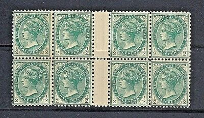 New South Wales 1899 SC #102 Mint Never Hinged Gutter Block of 8
