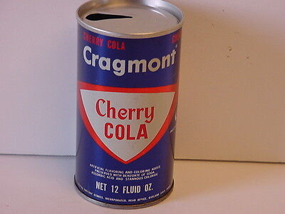 Vintage Cragmont Cherry Cola Straight Steel Pull Tab Top Opened Soda Can Safeway