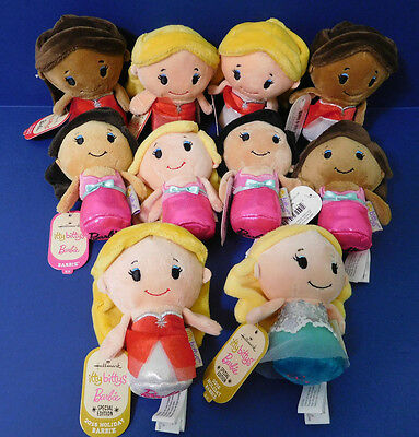 New W/tags Hallmark Barbie Itty Bittys - Lot Of 10 W/ 8 Different Characters