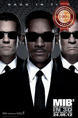 New Men In Black 3 Mib Iii Three Movie Original Cinema Film Print Premium Poster