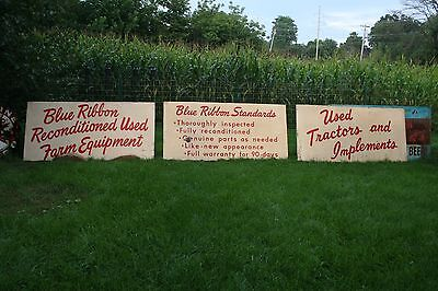 HOLY GRAIL!!! 1950's INTERNATIONAL HARVESTER BLUE RIBBON SIGNS USED TRACTORS IH