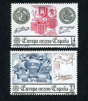 SPAIN 1982 Europa, SET OF 2, MINT Never Hinged