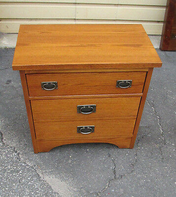 58243 Mission Oak Nightstand Stand Chest
