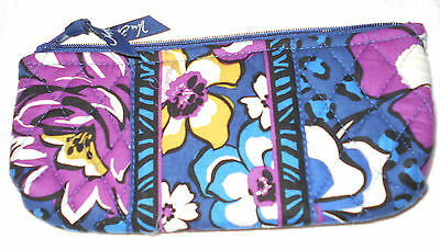 NWOT Vera Bradley AFRICAN VIOLET Brush & Pencil Case Makeup Brushes Case