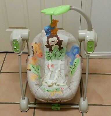 Fisher price space saver swing & seat. Baby swing