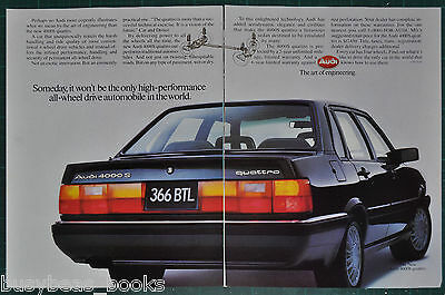 1985 AUDI 4000S Quattro 2-page advertisement, Audi 4000S Quattro big photo
