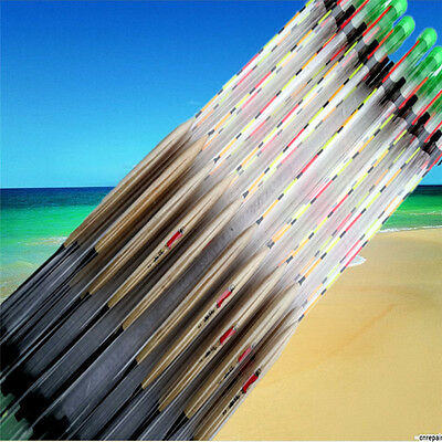 Hot 10 pcs Floats Wooden Bobbers Ribbon fish Outdoor Fishing core fishing M0