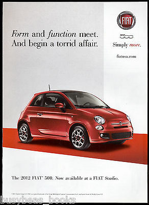 2012 FIAT 500 advertisement, Fiat 500 small red car