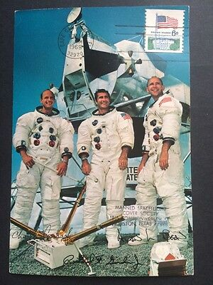 Two Postcards: Apollo 11 & Apollo 12 Astronaut NASA Photo Space Postcards