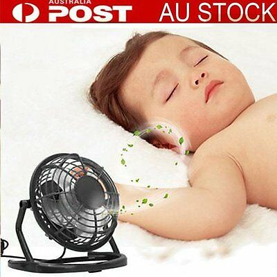 Mini 4 inch USB Fans Portable Small Desk Fan For PC/Laptop/Notebook Metal OP