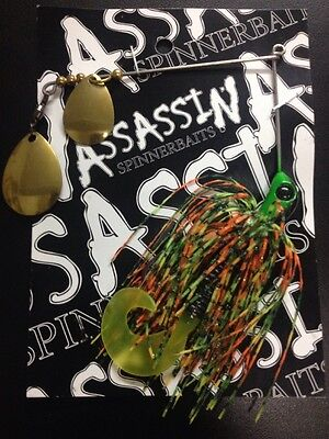 Assassin Spinnerbaits murray cod and yellowbelly 1 X 5/8 OZ #316