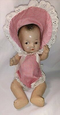 """Antique Composition baby doll 10"""""""