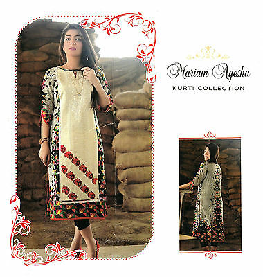 Pakistani Designer Kurta Stitched Indian Kurti Women Embroidered Tunic Top