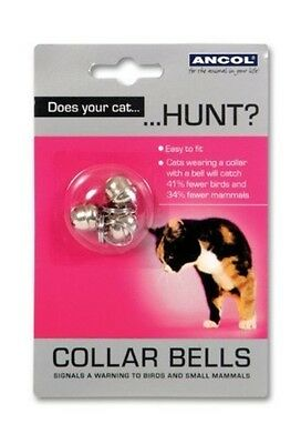 Ancol Cat Collar Bells Assorted Spare Collar Bells Chrome finished Easy To Fit