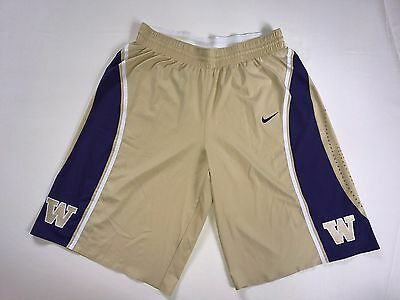 Washington Huskies Nike Authentic Team Issued Men's Basketball Shorts - Gold