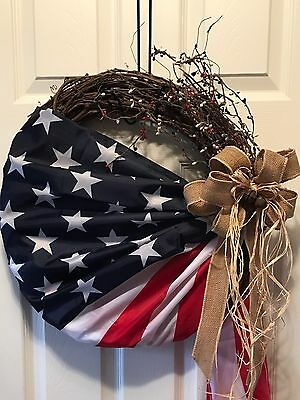 Patriotic Wreath, 4th Of July, Americana Wreath, Military And Veterans Day Wreat