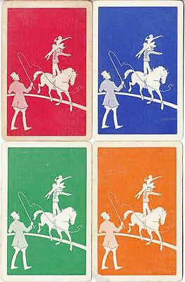 CIRCUS HORSE #F2a    4 Single Swap Playing Cards.