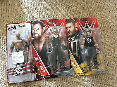 Mattel WWE Figures the Rock, Undertaker and Kevin Owens Brand New Pickup Only