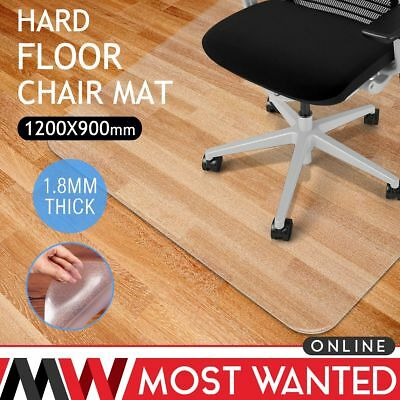 Frosted Office Chair Mat Home Floor Carpet Protector Rectangle 90x120cm 1.8MM