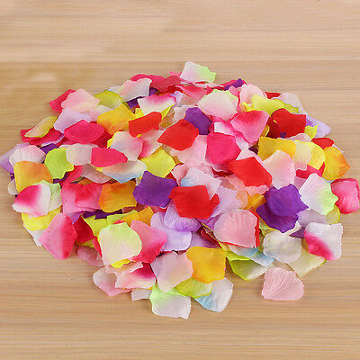 100-2000pcs Artifical Rose Petals Silk Confetti Flower Table Wedding Party Decor