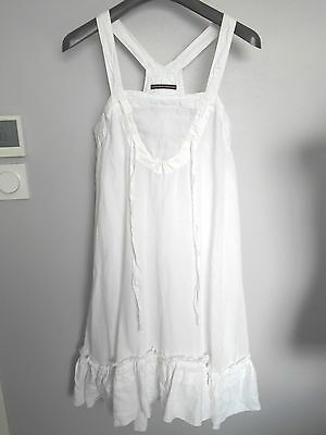 robe MARITHE FRANCOIS GIRBAUD blanche femme taille L