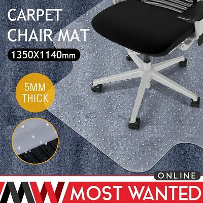 Frosted Office Chair Mat Home Floor Carpet Protector PVC With Grips 5mm Thick