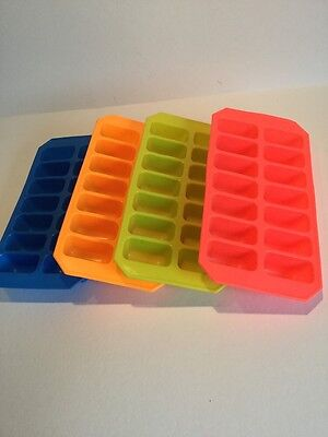 Silicone Soft  Ice Cube Tray Flexible Easy Empty Ice Cube Tray  By Apollo. 1x