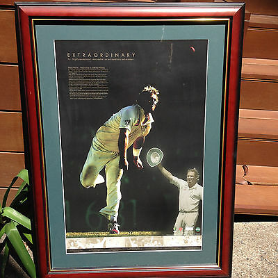 """SHANE WARNE """"EXTRAORDINARY"""" Picture Frame Journey to 700 Wickets"""