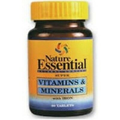 Vitaminas y Minerales con Hierro 450mg 60 tabletas.Nature Essential