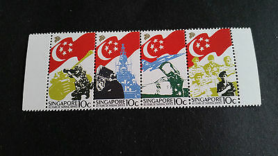 Singapore 1987 Sg 553-556 20Th Anniv Of National Service Mnh