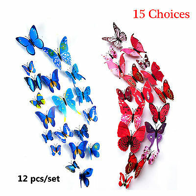 Home Decor Sticker DIY Design Decal Wall Stickers Room Decorations 3D Butterfly