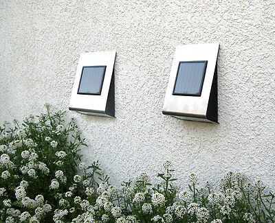 Outdoor Garden Stainless Steel Wall Mounted Solar Powered Lights ST703