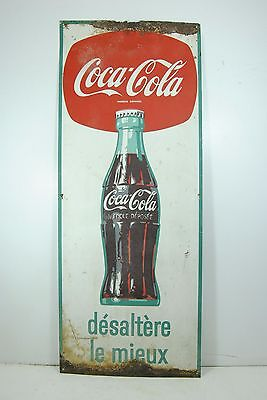 Nummernschild Coca Cola 60'tafel Werbung/Tabelle/tin sign/Bar/Martini 40x100