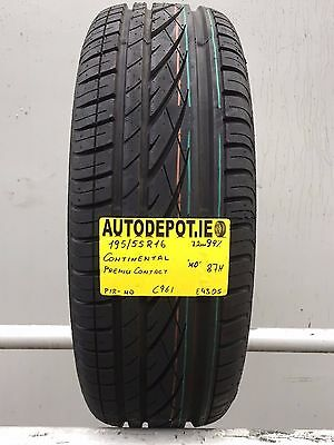 195/55R16 CONTINENTAL PREMIUM CONTACT 87H 99% Part worn tyre (C961)