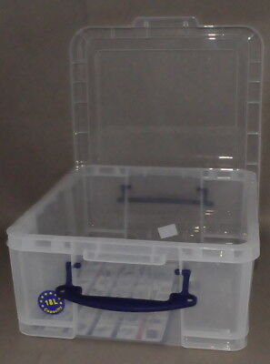 Really Useful Box 18C 18 Liter Transparent 480x390x200 mm PP mit Deckel u. Griff