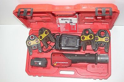 Rothenberger 15-110mm Romax 3000 Press Tool Kit Cordless Battery Crimp Kit TOOL