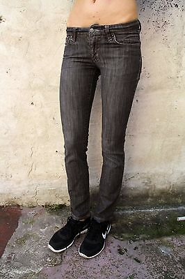 Rifle Jeans Ladies Indigo Grey Denim Jeans Low Rise Slim Stretch Fit W26 Uk8