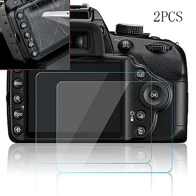 2x 9H Hard Tempered Glass Screen Protector Film for Nikon D3200 D3300 D3400 SLR~