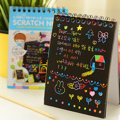 Kids' Crafts Drawing Notebook Painting Paint DIY Scratchbooks