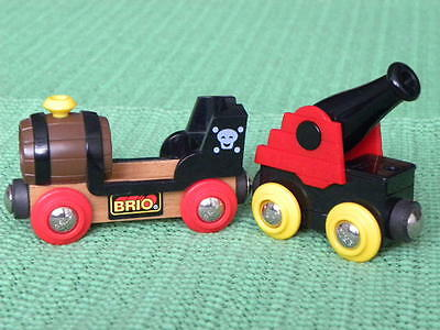 BRIO PIRATE WAGONS for Thomas & Friends Wooden Railway TRAIN ENGINE SETS